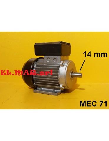 0,5 HP 0,37 KW Mec 63 2800 Giri Motore Monofase 2 Poli