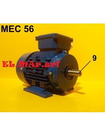 HP 0,18 KW 0,12 Mec56 2800 Giri Motore Elettrico Trifase 400 V  2 Poli