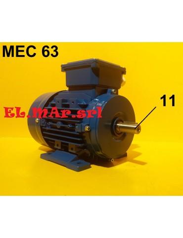 HP 0,25 KW 0,18 Mec56 2800 Giri Motore Elettrico Trifase 400 V  2 Poli