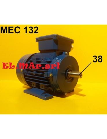 HP 7,5 KW 5,5 Mec 132 2800 Giri Motore Elettrico Trifase 400 V  2 Poli