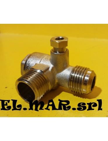 Valvola di Ritegno 3/8 M x 3/8 M Compressore aria compressa valvola ritenuta