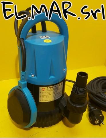 Pompa Sommersa 0,35 HP Elettropompa Acque Pulite Plastica 250 W