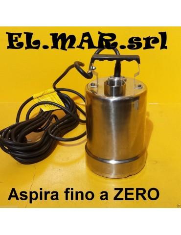 Elettropompa MINIZERO in acciaio x svuotamento totale 250 W