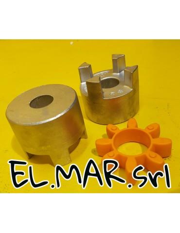 Giunto GR19 alluminio foro max 24 mm + Stella Poliuretano