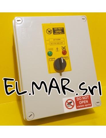 Quadro Elettrico Avviamento e Protezione Elettropompa Trifase 400 V