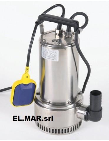 0,75 HP 0,55 KW MONOFASE Elettropompa Sommersa Acque Chiare LEPORIS SUPERDRAIN75