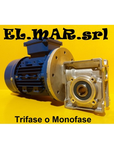 HP 1 KW 0,75 Motoriduttore Vite Senza Fine Trifase