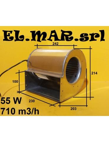 Ventilatore Centrifugo 75 W Aspirazione Doppia 230V Monofase