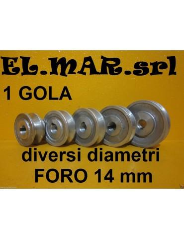 Puleggia Foro 14 mm 1 Gola Sez. A Alluminio