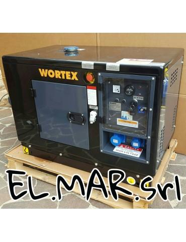 Generatore Wortex 6 KVA Insonorizzato 9,6 HP Diesel