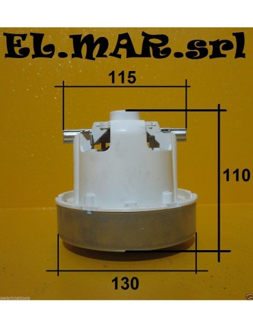 Motore Aspirapolvere HS 1400 W By PASS Monostadio Aspiraliquidi a Spazzole