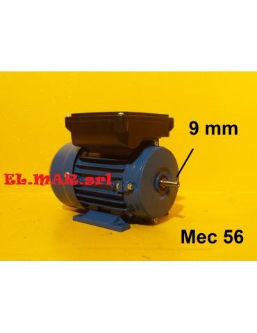 0,18 HP 0,12 KW Mec56 2800 Giri Motore Monofase 2 Poli